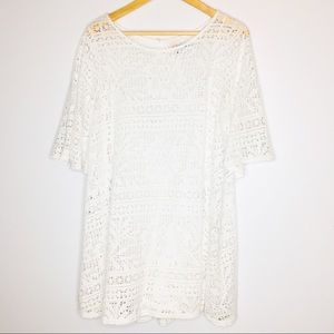 Free People Beach Womens Swim dress Cover Up White